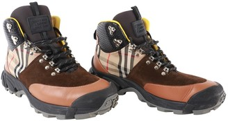 Burberry Multicolour Suede Boots