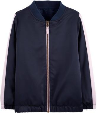 Carter's Girls 4-12 Flip Sequin Zip-Up Satin Bomber Jacket