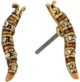 Marc Jacobs Charms Caterpillar Studs Earrings