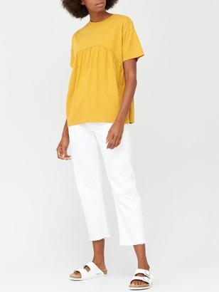 Very Peplum T-shirt - Mustard