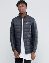 Nike Quilted Shacket In Black 806859-010