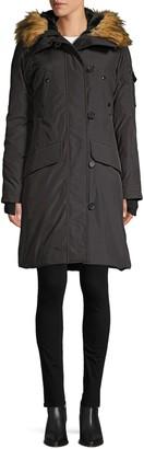 S13 S 13/Nyc Alaska Faux Fur Trimmed Down Parka Coat
