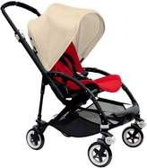 Bugaboo Bee 3 Black Frame Stroller With Red Seat (Off-White)