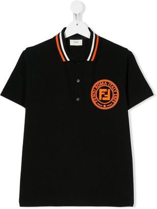Fendi Kids Logo Patch Polo Shirt