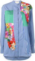 Ports 1961 floral print striped shirt - women - Cotton - 40