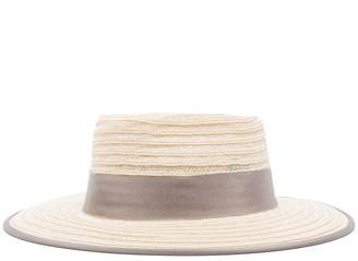 D'Estree Gerhard grosgrain-trimmed straw hat