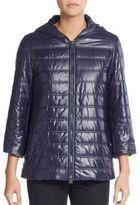Cinzia Rocca Quilted Hooded Rain Coat