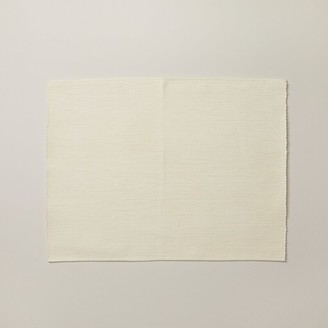 Indigo Solid Ribbed Placemat Ivory
