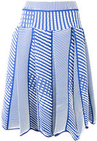 Issey Miyake pleated cloqué skirt - women - Polyester - 2