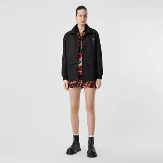 Burberry Horseferry Print Lightweight Funnel Neck Jacket