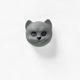 Qualy - Keys Holder Wall Mounted Neko Cat In Grey