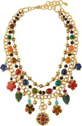 Jose & Maria Barrera Semiprecious Multi-Collar Necklace