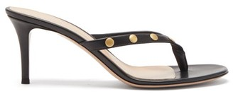 Gianvito Rossi Studded 70 Leather Sandals - Black Gold