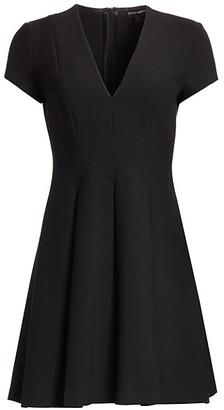 Emporio Armani Cap Sleeve V-Neck Dress