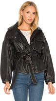 Marissa Webb Kayla Leather Anorak in Black. - size L (also in M,XS)