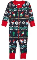 Hanna Andersson Infant Gnome Fair Isle Organic Cotton Fitted One-Piece Pajamas