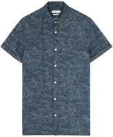 J.lindeberg Daniel Printed Linen Blend Shirt