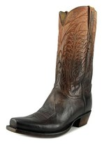 Lucchese Montgomery Square Toe Leather Western Boot.