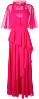 Talbot Runhof ruffled maxi dress - women - Polyester - 40