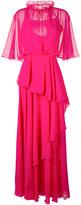 Talbot Runhof ruffled maxi dress - women - Polyester - 40