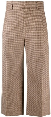 Chloé Cropped Houndstooth Trousers