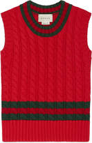 Gucci Children's cotton vest with Web