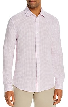 The Men's Store at Bloomingdale's Linen Gingham Classic Fit Shirt - 100% Exclusive