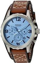 Fossil Men's JR1515 Nate Chronograph Light Brown Leather