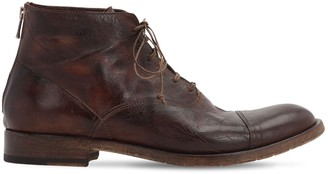 Shoto Lace-Up Leather Boots W/ Zip