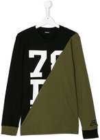 Diesel panelled longsleeved T-shirt