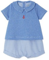 Petit Bateau Baby boys short mixed-material all-in-one