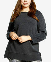 Soffe Curves Plus Size Throw-Back Sweatshirt, a Macy's Exclusive Style