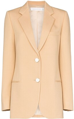 Victoria Beckham Single-Breasted Blazer Jacket