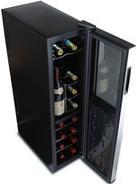 JCPenney WINE ENTHUSIAST Wine Enthusiast Silent Slimline 18-Bottle Dual-Zone Wine Cooler with Upright Bottle Storage