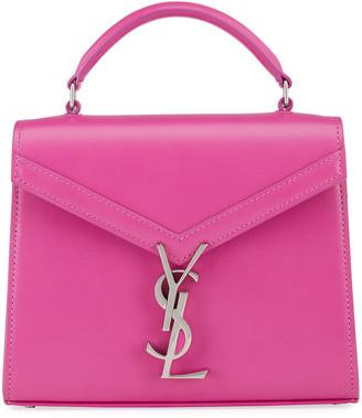 Saint Laurent Cassandre Mini Monogram Calf Top-Handle Bag