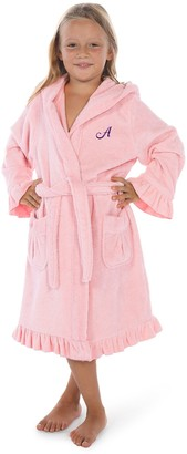 Linum Home Textiles Kids Personalized Hooded Terry Bathrobe with Ruffle