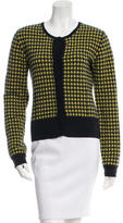 Erdem Houndstooth Scoop Neck Cardigan