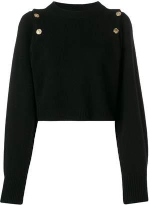 Sonia Rykiel embossed button jumper