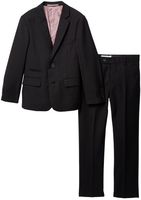 Isaac Mizrahi Slim Fit Micro Gingham 2-Piece Suit (Toddler, Little Boys, & Big Boys)