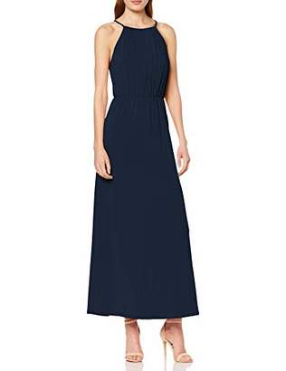 Vila CLOTHES Women's Vitaini S/l Maxi Dress/dc, Red Emberglow, X-Small