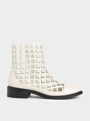 Charles & Keith Caged Ankle Boots