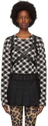 Junya Watanabe Black and White Check Harness T-Shirt