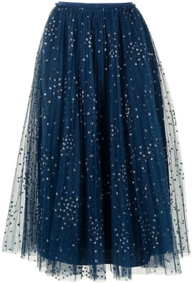 Valentino Pre-Owned Pleated Tulle Skirt