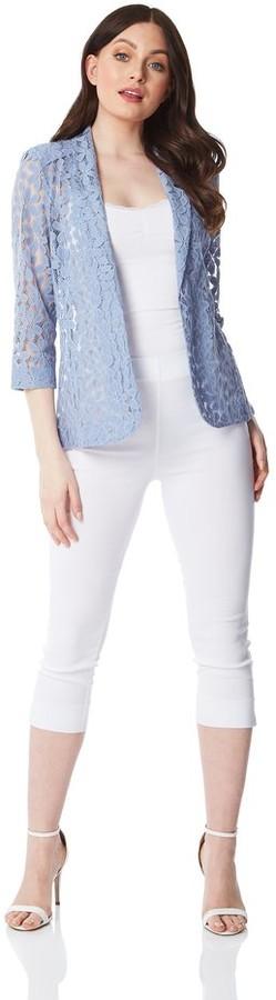 M&Co Roman Originals petal lace blazer