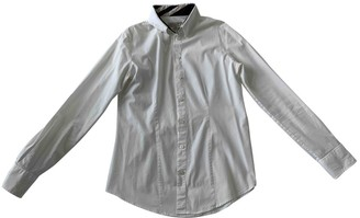Burberry White Cotton Top for Women