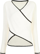 Derek Lam 10 Crosby crossover knitted top - women - Cotton/Cashmere - M