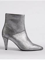 M&S Collection Leather Stiletto Pointed Ankle Boots