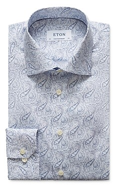 Eton Contemporary Fit Paisley Printed Dress Shirt