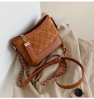 Goodnight Macaroon 'Gillian' Quilted Crossbody Bucket Bag (4 Colors)