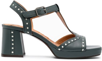 Chie Mihara laser-cut T-bar sandals
